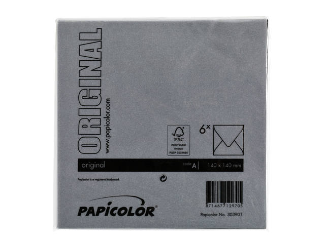 Envelop Papicolor 140x140mm Ravenzwart 3