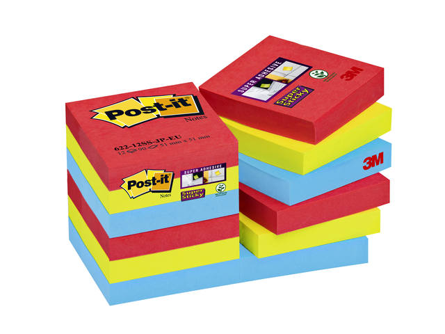 Memoblok 3M Post-it 622 Super Sticky 47.6x47.6mm Bora Bora 1