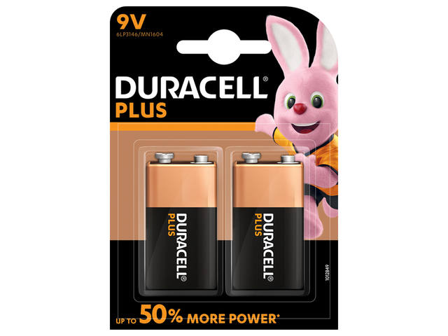 Batterij Duracell Plus Power 2x9Volt MN1604 1