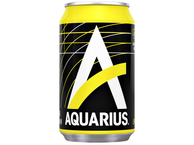 Frisdrank Aquarius Lemon blikje 0.33l 1