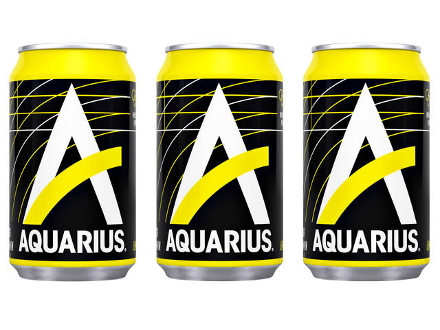 Frisdrank Aquarius Lemon blikje 0.33l 2