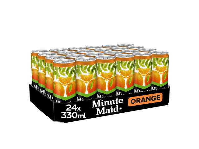 Frisdrank Minute Maid Orange blikje 0.33l 4