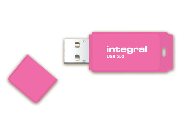 USB-stick 3.0 Integral 64GB neon roze 1