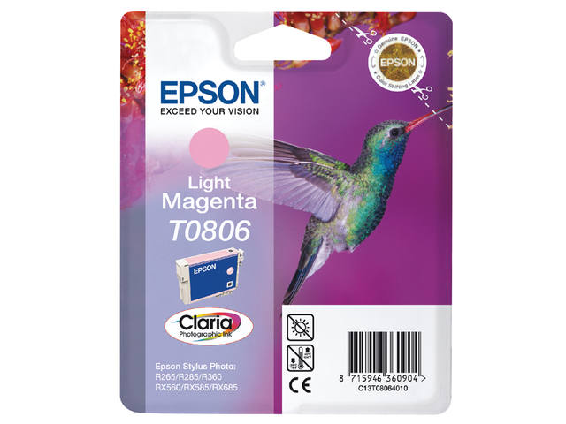Inkcartridge Epson T0806 lichtrood 1