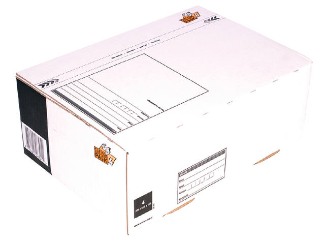 Postpakketbox 4 CleverPack 305x215x110mm wit 1