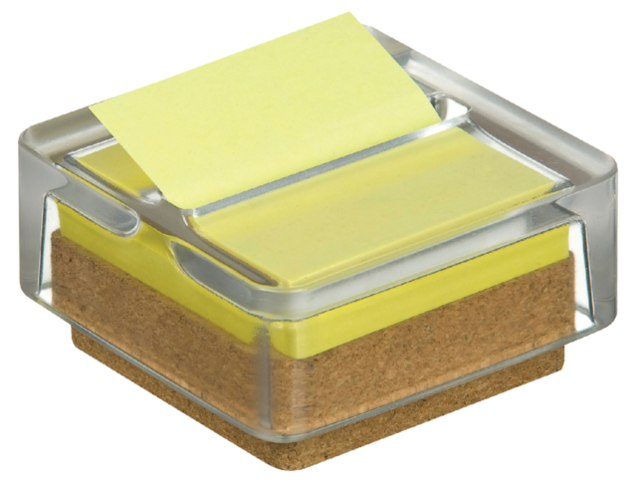 Memoblokdispenser 3M Post-it Z-Notes R330 glas +12 blok geel 1