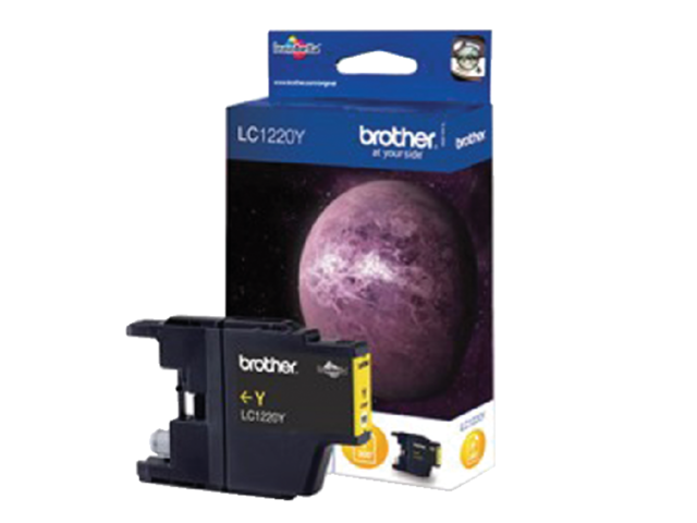 Inkcartridge Brother LC-1220Y geel 1