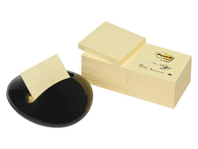 Memoblokdispenser 3M keivormig incl 12 blok Post-it Z-Notes 76x76mm 1