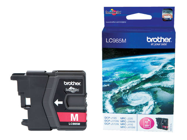 Inkcartridge Brother LC-985M rood 1
