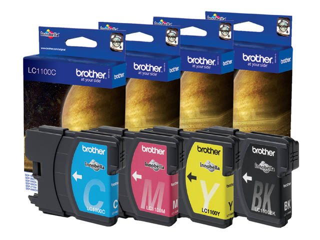 Inkcartridge Brother LC-1100Y geel 2