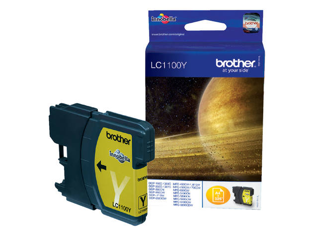 Inkcartridge Brother LC-1100Y geel 1