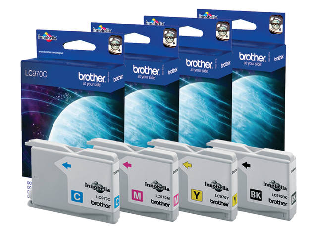 Inkcartridge Brother LC-970C blauw 2