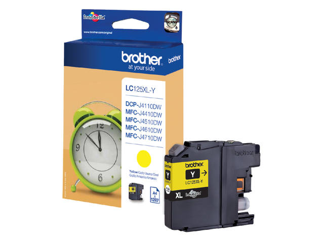 Inkcartridge Brother LC-125XLY geel HC 1