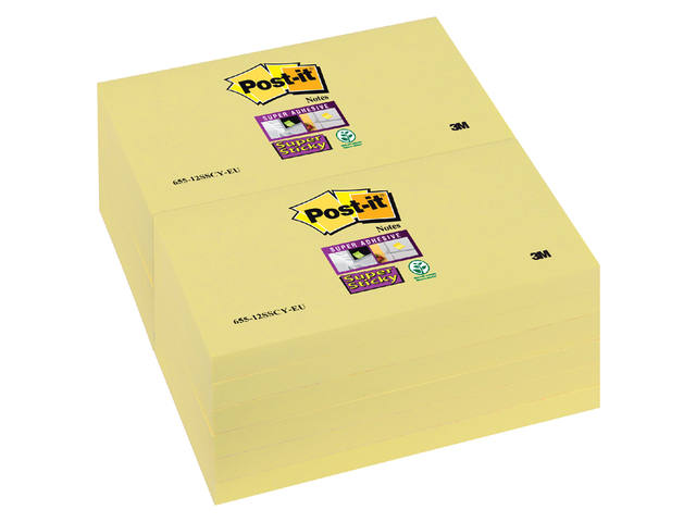 Memoblok 3M Post-it 655-SSY Super Sticky 76x127mm geel 1