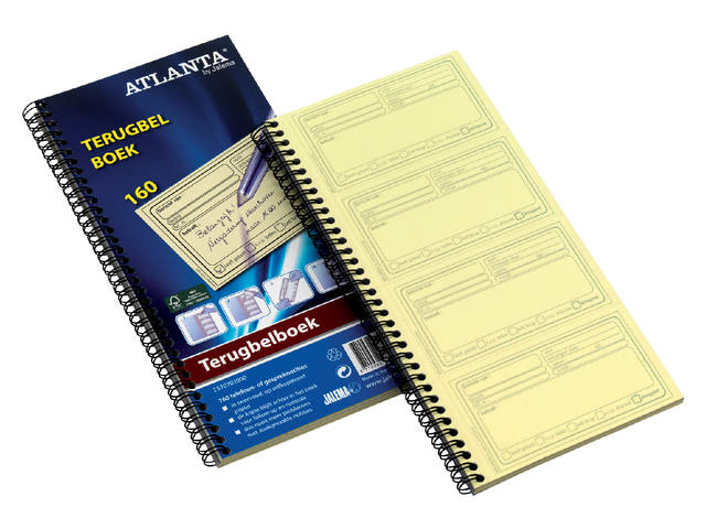 Terugbelboek Atlanta 74x128mm 400 notities 100vel 1