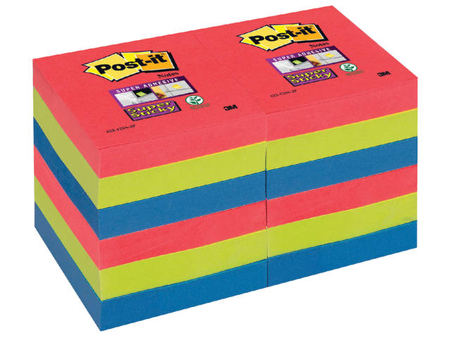 Memoblok 3M Post-it 622 Super Sticky 47.6x47.6mm Bora Bora 2