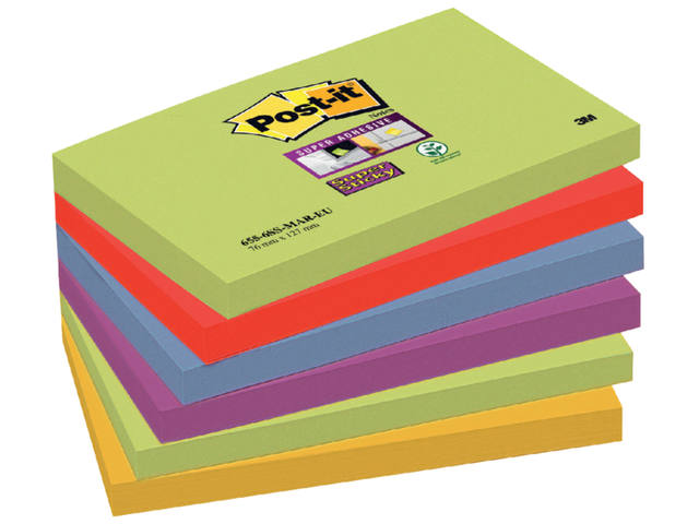 Memoblok 3M Post-it 655-SSMK Super Sticky 76x127mm Marrakesh 1