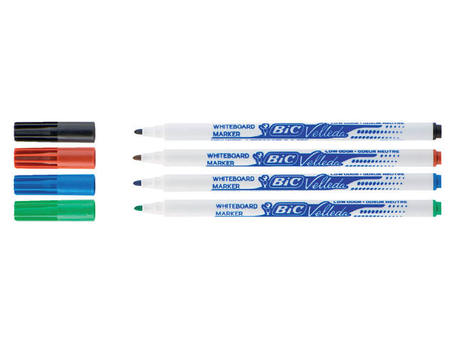 Viltstift Bic 1721 whiteboard rond zwart 1.5mm 2