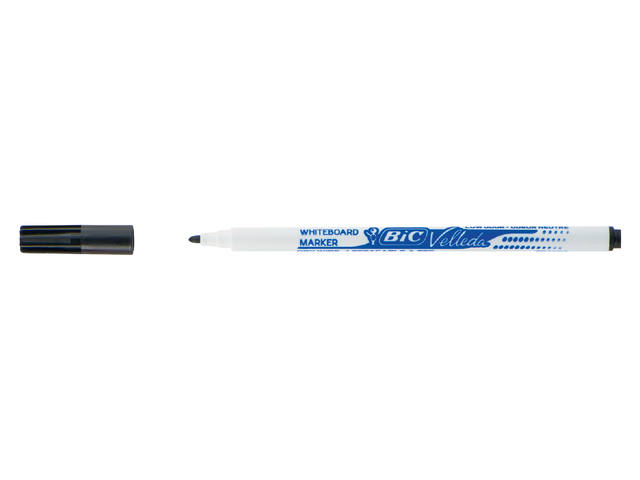 Viltstift Bic 1721 whiteboard rond zwart 1.5mm 1
