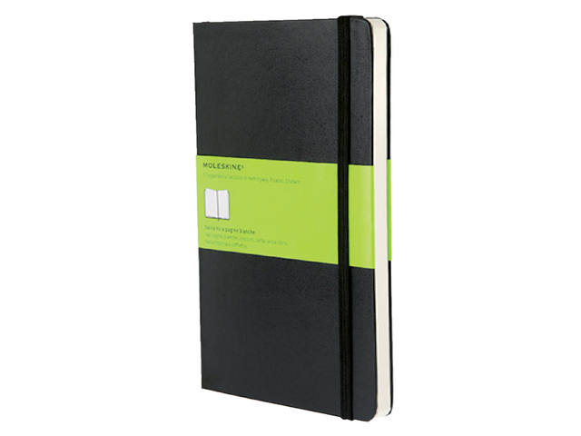 Notitieboek Moleskine large 130x210mm blanco zwart 1