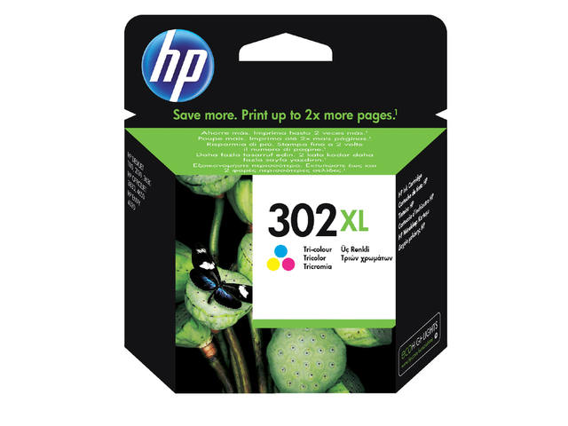 Inkcartridge HP F6U67AE 302XL kleur 1