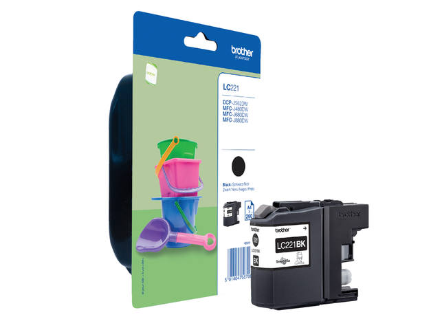 Inkcartridge Brother LC-221 zwart 1