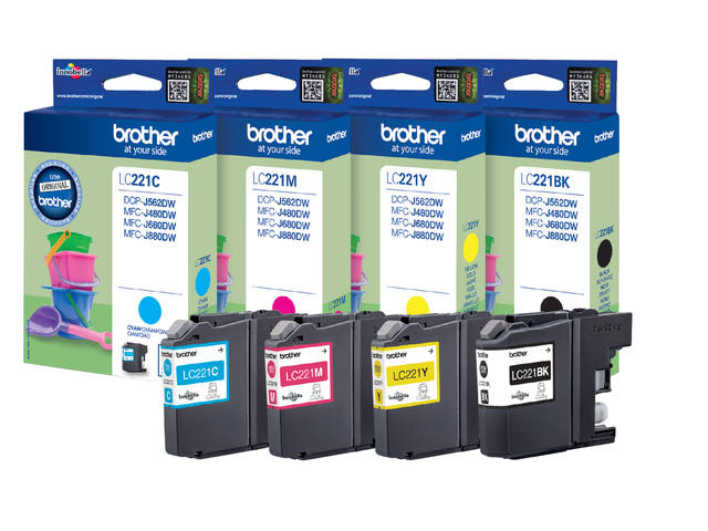 Inkcartridge Brother LC-221 zwart 2