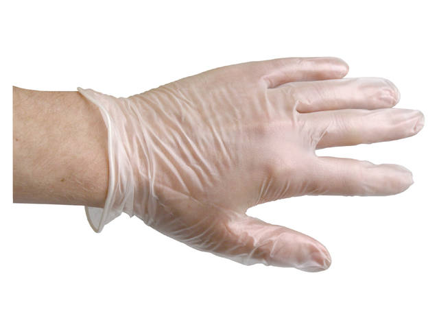 Handschoen PrimeSource Latex gepoederd Medium wit 2