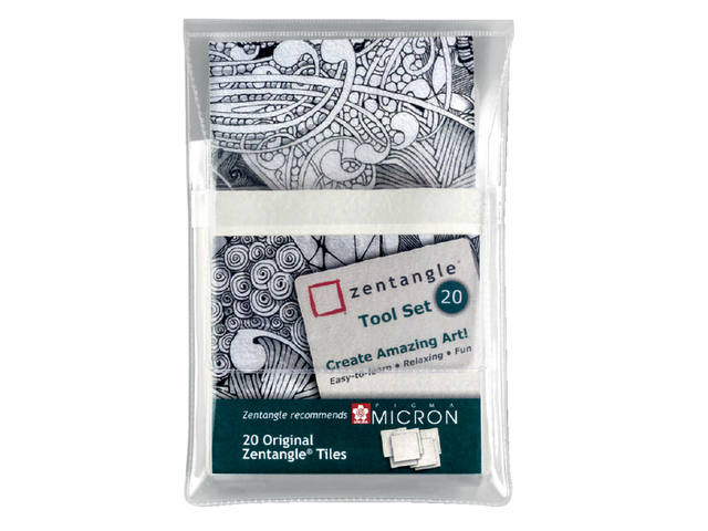 Sakura Zentangle tiles 20 delig wit 1