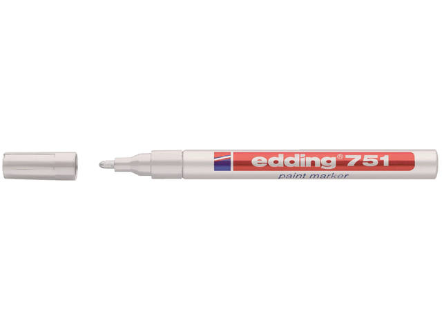 Viltstift edding 751 lakmarker rond wit 1-2mm blister 2