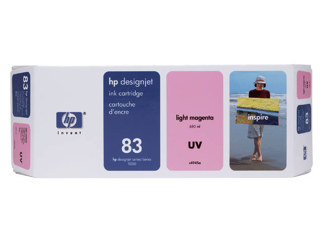 Inkcartridge HP C4945A 83 UV lichtrood 1