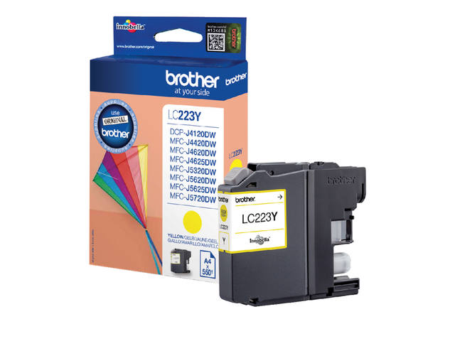 Inkcartridge Brother LC-223Y geel 1