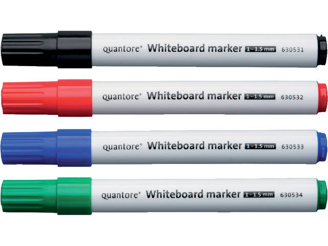 Whiteboardstift Quantore rond 1-1.5mm zwart 2