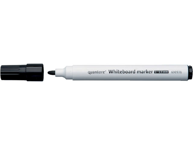 Whiteboardstift Quantore rond 1-1.5mm zwart 1