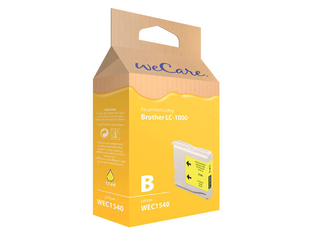 Inkcartridge Wecare Brother LC-1000 geel 1