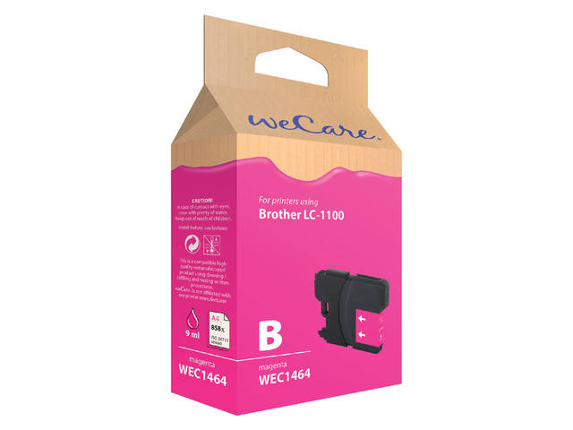 Inkcartridge Wecare Brother LC-1100 rood 1