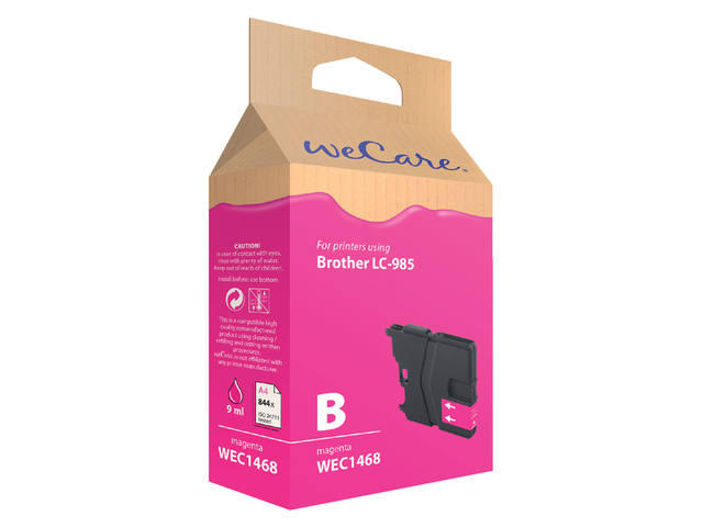 Inkcartridge Wecare Brother LC-985 rood 1