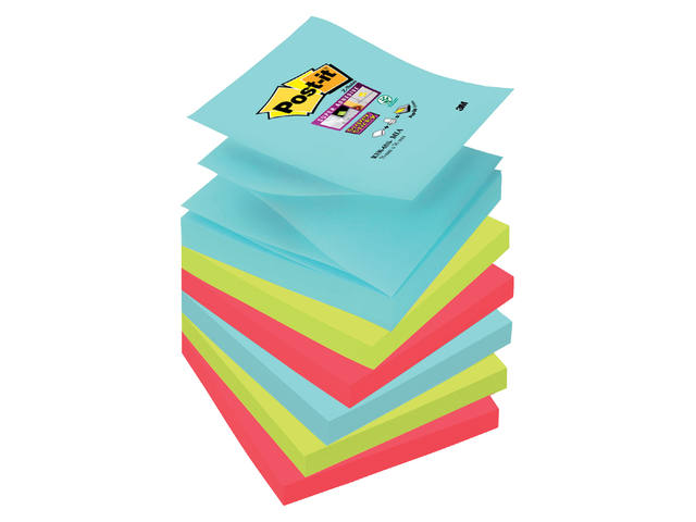 Memoblok 3M Post-it Z-Note S330-6MI 76x76mm Super Sticky Mia 1