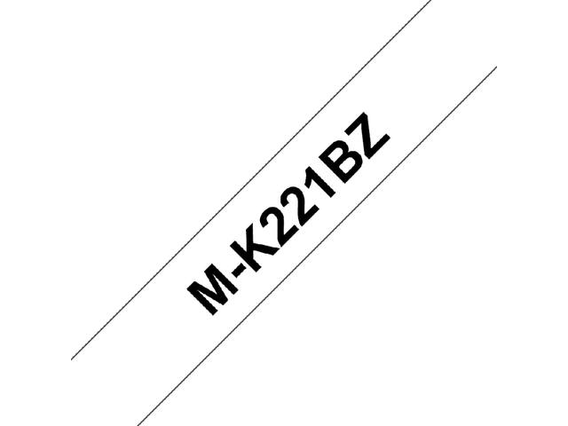 Labeltape Brother P-touch MK221 9mm zwart op wit 1