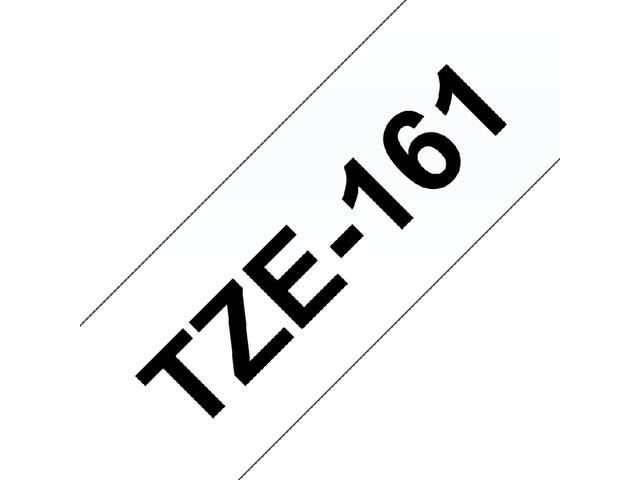 Labeltape Brother P-touch TZE-161 36mm zwart op transparant 2