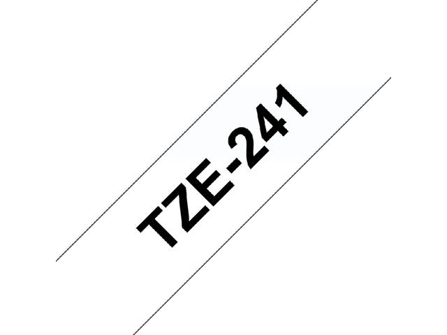 Labeltape Brother P-touch TZE-241 18mm zwart op wit 3