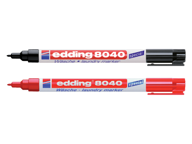 Viltstift edding 8040 wasgoed rond rood 1mm 3