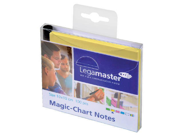 Magic-chart notes Legamaster 10x10 cm geel 3