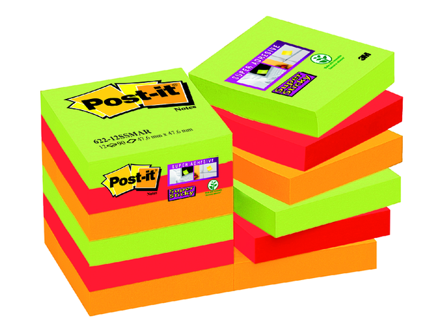 Memoblok 3M Post-it 622-SSMK Super Sticky 47x47mm Marrakesh 1