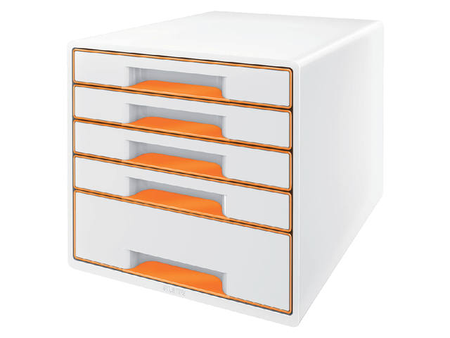 Ladenblok Leitz WOW 5 laden wit/oranje 1