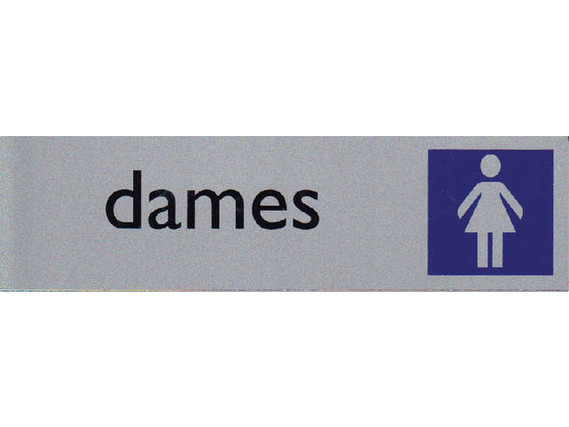 Infobord pictogram dames 165x44mm 1