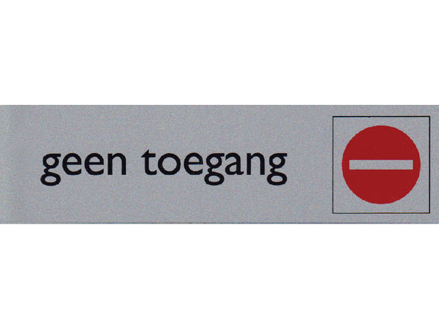 Infobord pictogram geen toegang 165x44mm 1