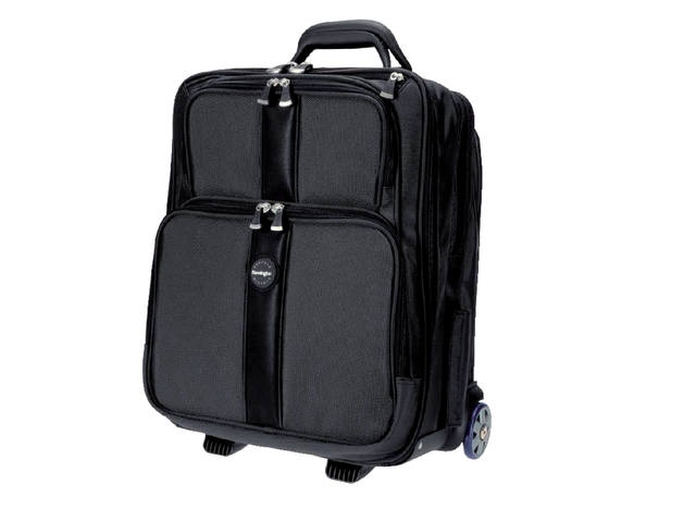 "Laptoptas Trolley Kensington Overnight 17"" zwart 2"