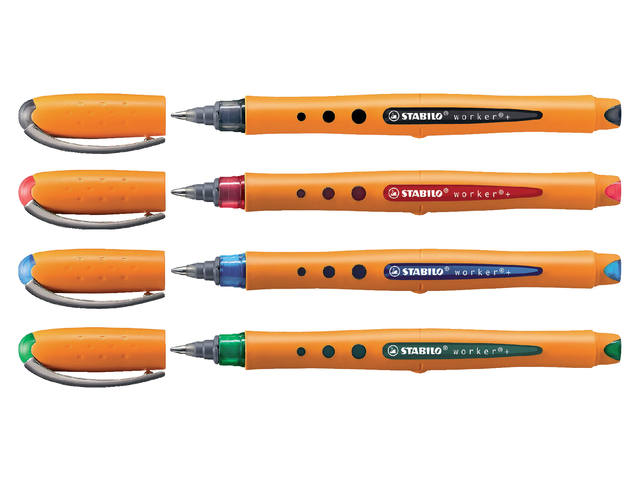 Rollerpen STABILO Worker 0.5mm groen 2