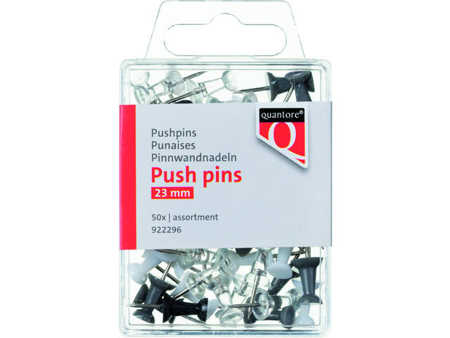 Push pins Quantore blister assorti 1